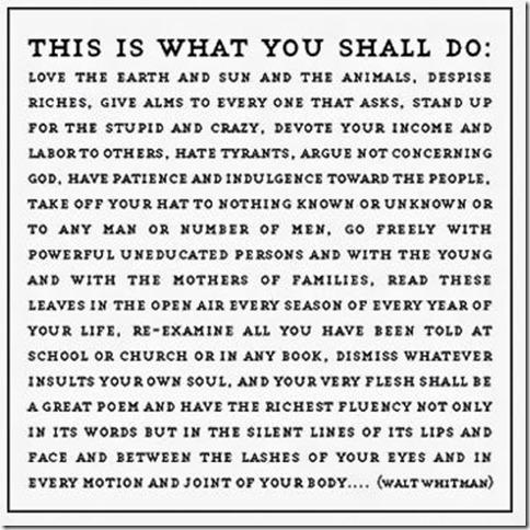 Walt's Commandments